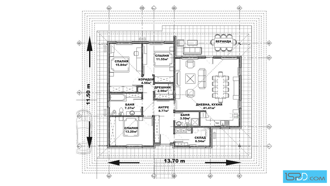План на първи етаж