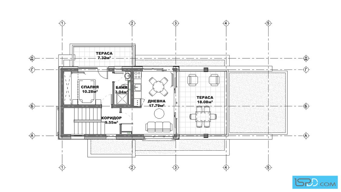 План на трети етаж