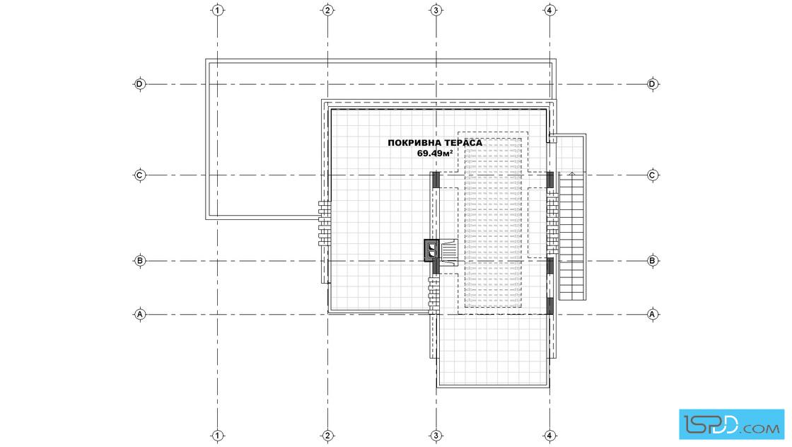 План на покривна тераса