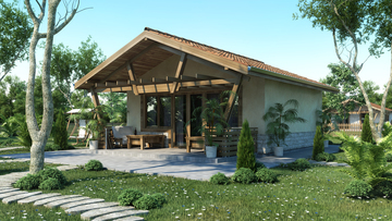House design 51 - Wooden house