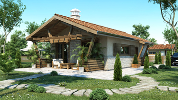 House design 50 - Wooden house