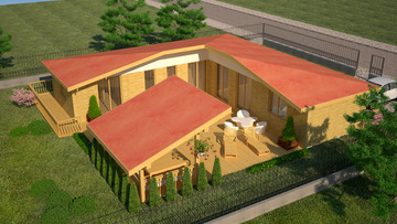 House design 25 - Wooden house